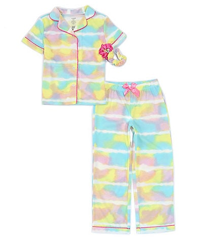 Dream Life Little/Big Girls 2T-16 Rainbow Tie-Dye 2-Piece Pajamas Set
