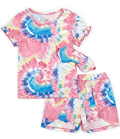 Dream Life Little/Big Girls 2T-16 Swirl Tie-Dye 3-Piece Pajamas Set