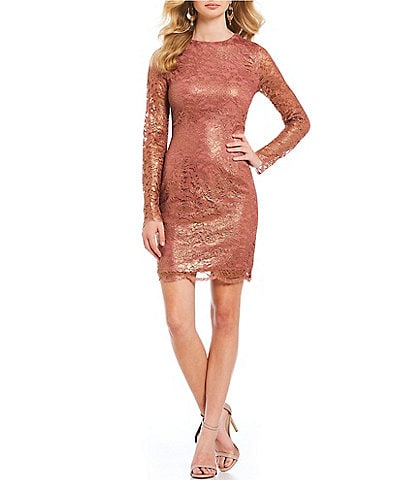 Dress the Population Ash Lace Metallic Sheath Dress