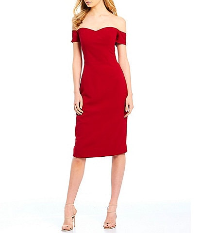 Modern Square Sheath Mini Dress