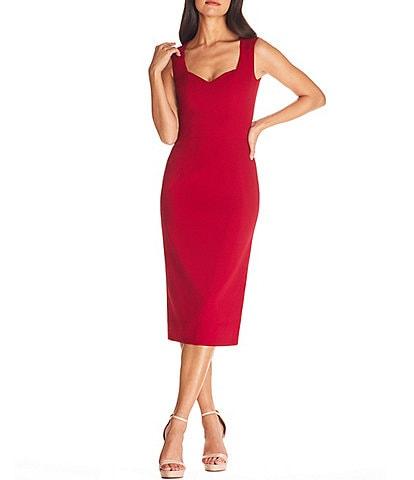 Dress the Population Elle Sweetheart Bodycon Midi Dress