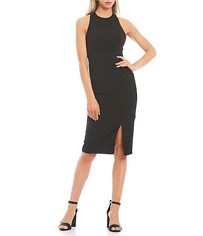Dress the Population Eme Sleeveless Halter Sheath Dress