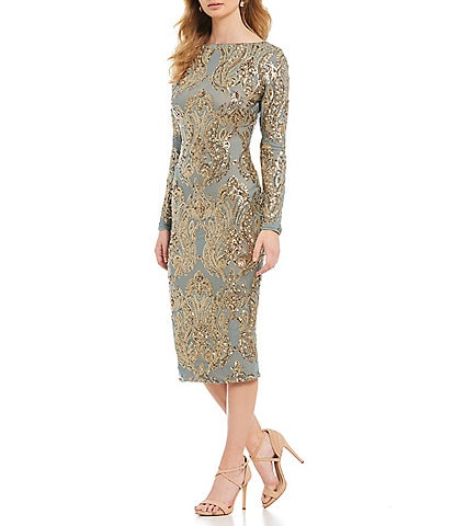 Dress the Population Emery Sequin Midi Dress