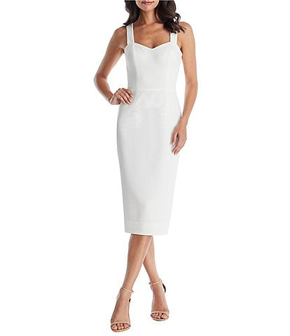 Dress the Population Nicole Sweetheart Neckline Sleeveless Midi Dress