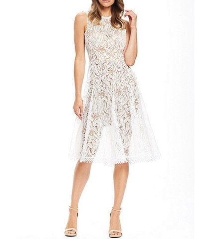 Dress the Population Shane Sleeveless Lace Dress