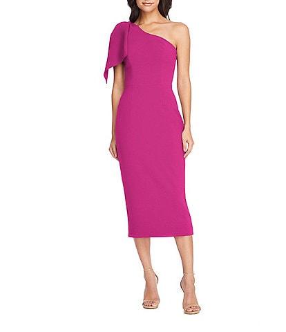Dress the Population Tiffany One Shoulder Midi Sheath Dress