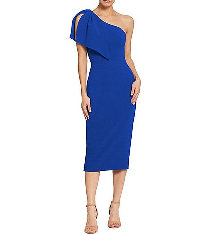 Dress the Population Tiffany One Shoulder Midi Sheath Dress