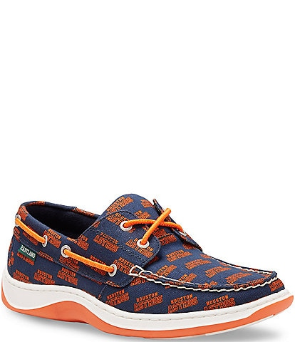 Eastland Men's Summer MLB Astros Boat Shoe