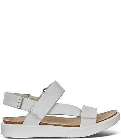 ECCO Corksphere Leather Strap Sandals