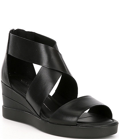 ECCO Elevate Leather Wedge Sandals