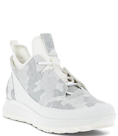 ECCO Exostrike Low Camo Print Wedge Sneakers