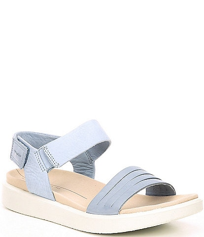 ECCO Flowt Strap Leather Platform Sandals