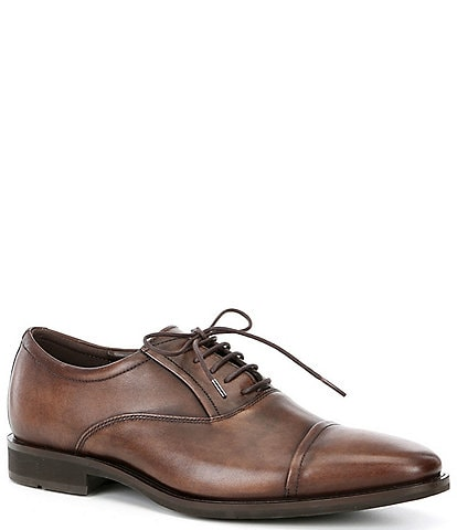 ECCO Men's Calcan Leather Cap Toe Oxfords