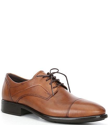 ECCO Men's Citytray Cap Toe Tie Dress Shoes