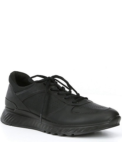 ECCO Men's Exostride Leather Lace-Up Shock Absorbing Sneaker