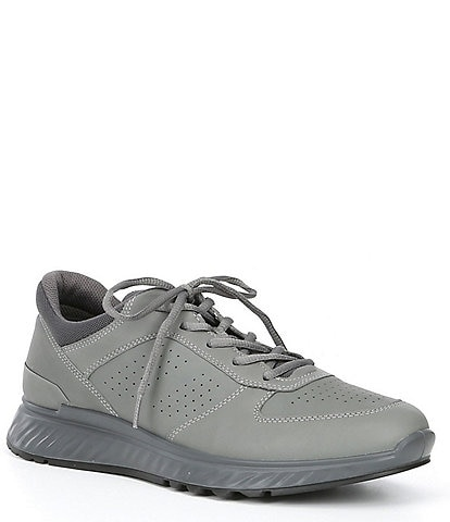 ECCO Men's Exostride Leather Lace-Up Shock Absorbing Sneakers