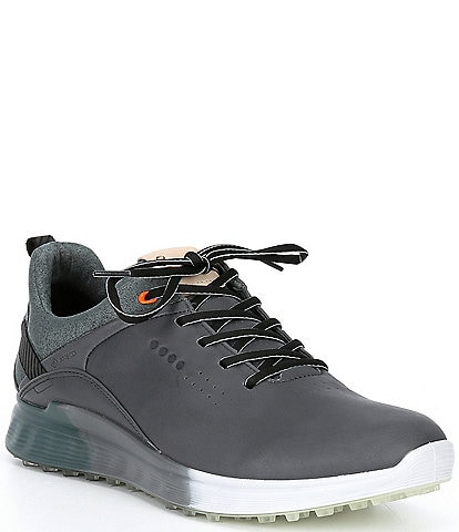 ECCO Men's S-Three Spikeless Waterproof Lace-Up Golf Shoes