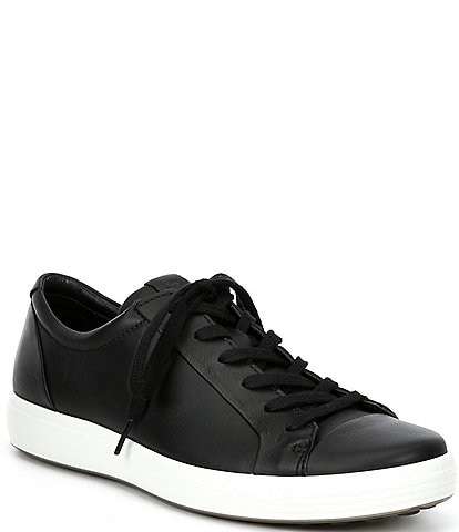 ECCO Men's Soft 7 City Leather Lace-Up Sneakers