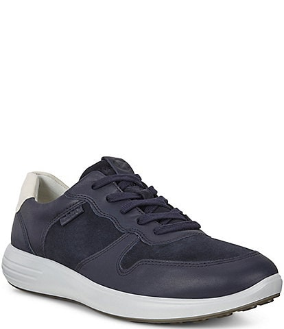ECCO Men's Soft 7 Runner Suede and Leather Classic Sneakers