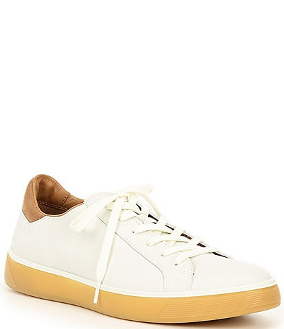 ECCO Men's Street Tray Leather & Suede Classic Sneakers