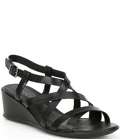 ECCO Shape 35 Leather Strappy Wedge Sandals