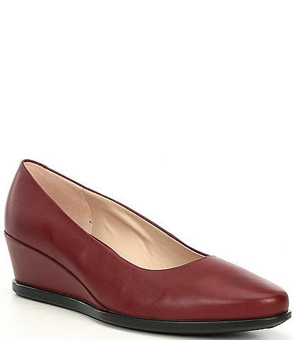 ECCO Shape 45 Leather Wedge Pumps