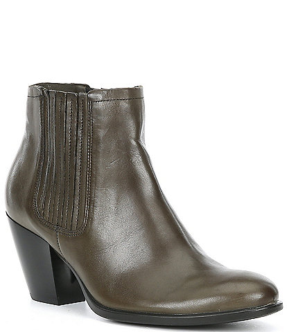ECCO Shape 55 Western Leather Ankle Booties
