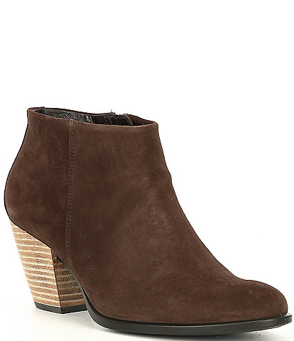 ECCO Shape 55 Western Water Repellent Suede Ankle Boots