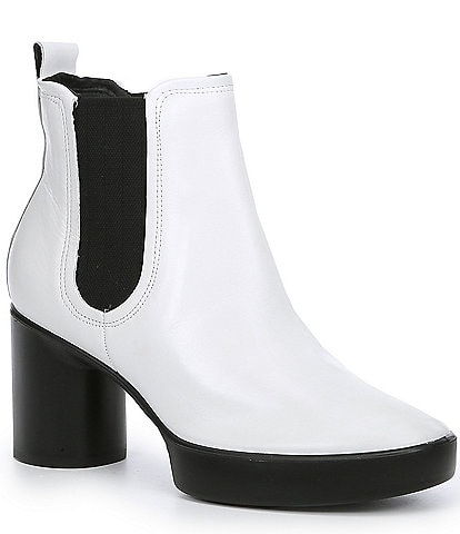 ECCO Shape Sculpted Motion 55 Chelsea Leather Block Heel Ankle Boots