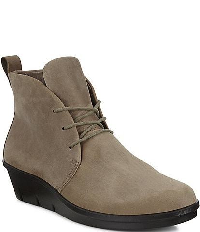 ECCO Skyler Chukka Leather Lace Up Boots