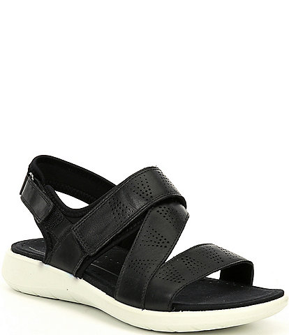 ECCO Soft 5 3-Strap Leather Sandals