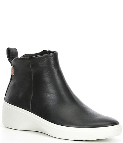 ECCO Soft 7 City Leather Wedge Boots