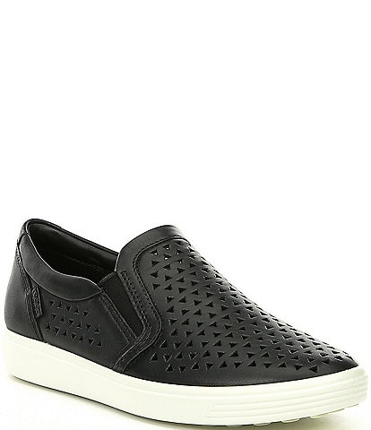 3998c2ef2914 ECCO Soft 7 Laser Cut Slip On Sneakers