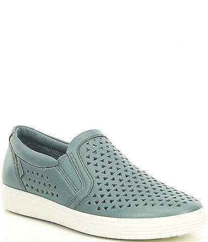 ECCO Soft 7 Laser Cut Slip On Sneakers