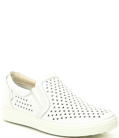 5314e4a0a835 ECCO Soft 7 Laser Cut Slip On Sneakers