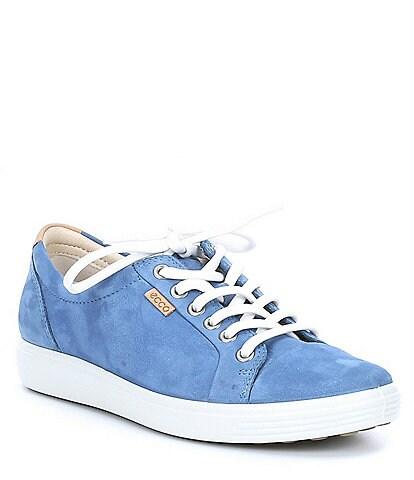 ECCO Soft 7 Nubuck Leather Sneakers