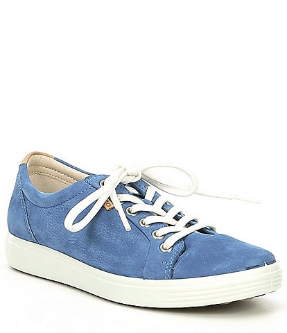 ECCO Soft 7 Suede Leather Sneakers