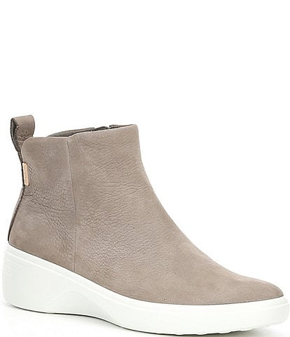 ECCO Soft 7 Wedge City Suede Leather Boots