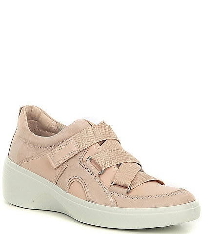 ECCO Soft 7 Wedge Strap Sneakers