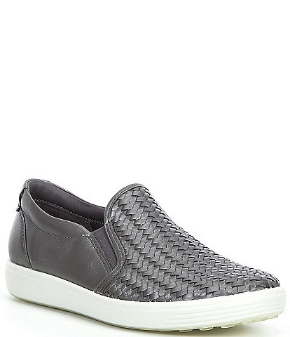 ECCO Soft 7 Woven Leather Slip On II Sneakers