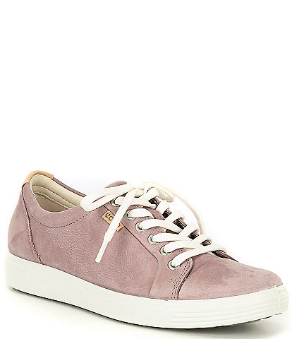 ECCO Soft 7 Leather Lace-Up Sneakers