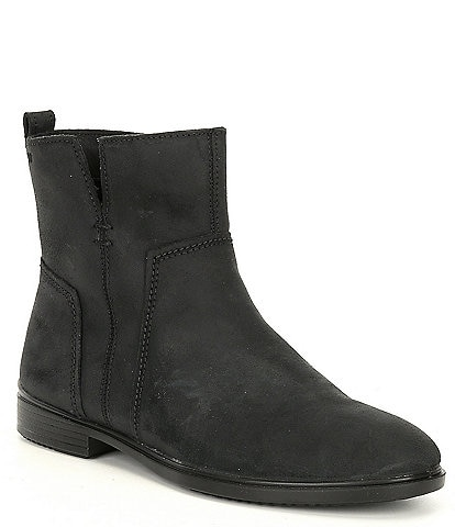 ECCO Touch 15 Suede Leather Ankle Booties