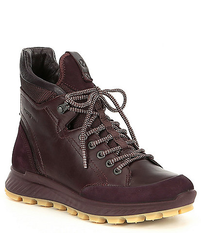ECCO Womens Exostrike Hydromax Leather Ankle Boots
