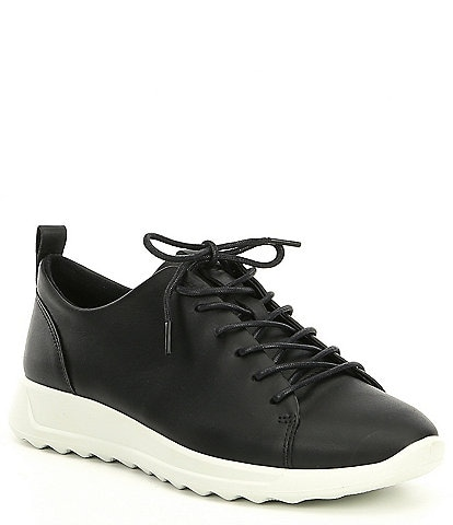 ECCO Womens Flexure Runner Tie Sneakers