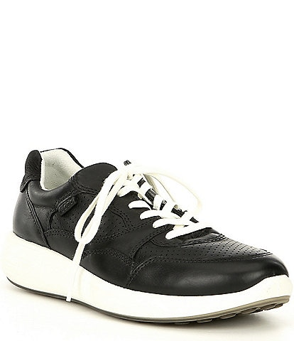 ECCO Women's Soft 7 Runner Leather Lace-Up Sneakers