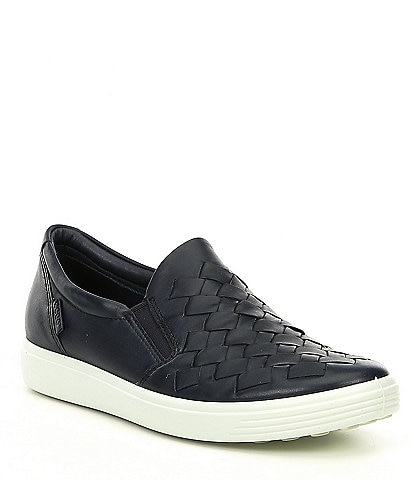 1101193cfa32 ECCO Women s Soft 7 Woven Slip-On Sneakers