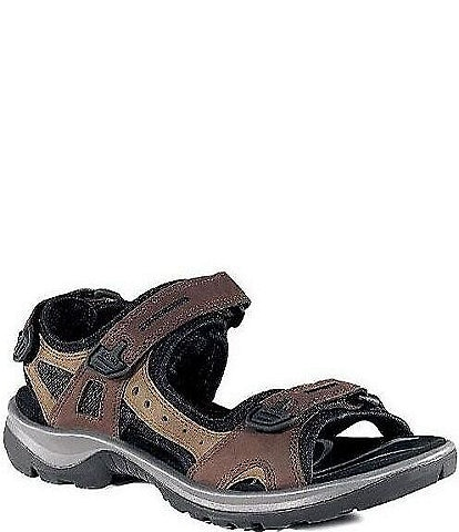 ECCO Yucatan Adjustable Strap Leather Sandals