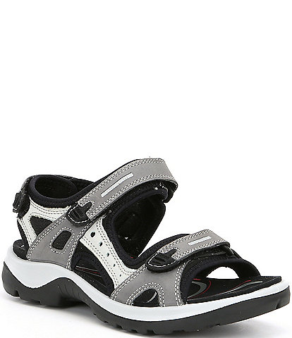 ECCO Yucatan Adjustable Strap Leather Sandals