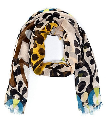 Echo Charming Tiger Oversized Square Scarf