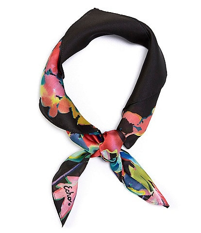 Echo Water Floral Square Scarf